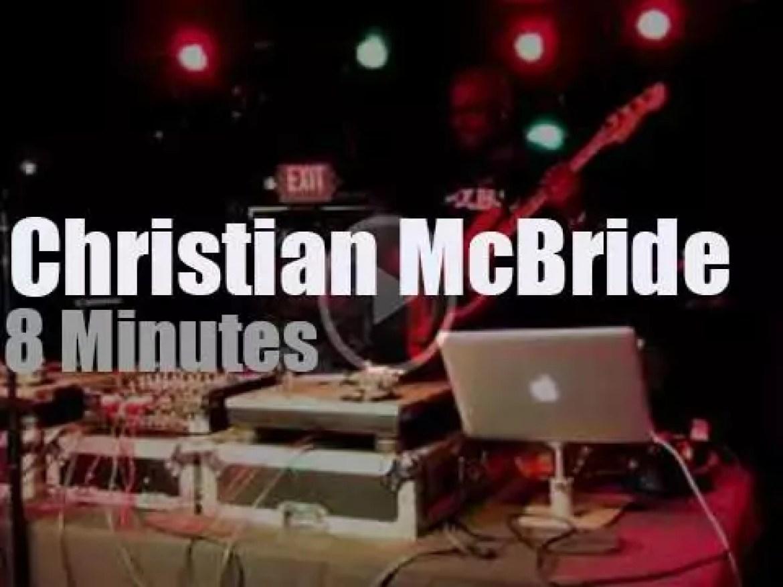 DJ Christian McBride  works the turntables (2015)
