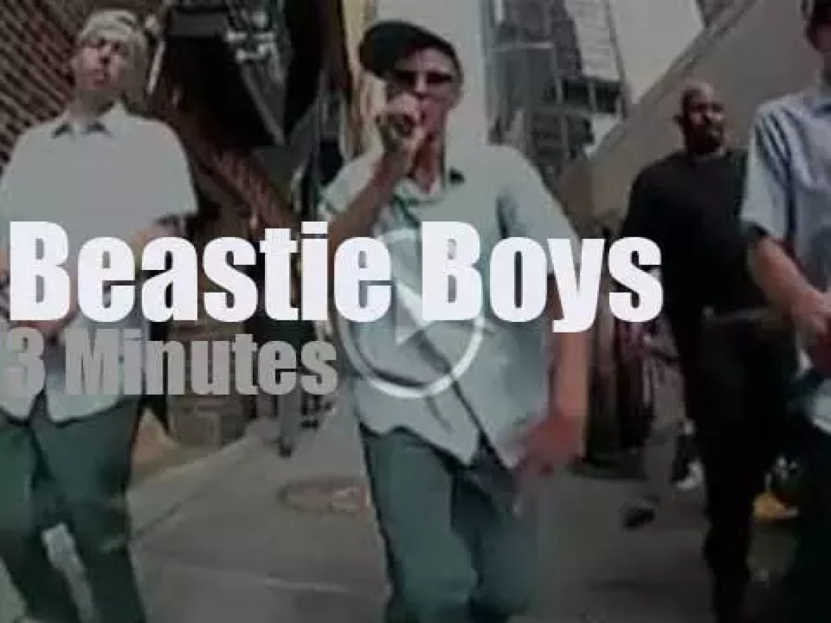 On TV today, Beastie Boys with Letterman (2004)