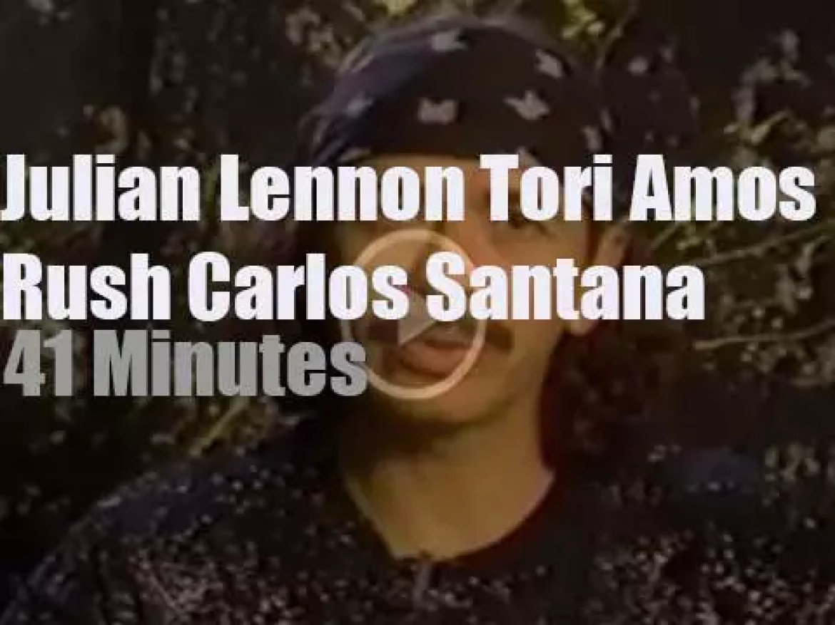 On TV today, Julian, Tori and Carlos at 'ABC In Concert ' (1992)