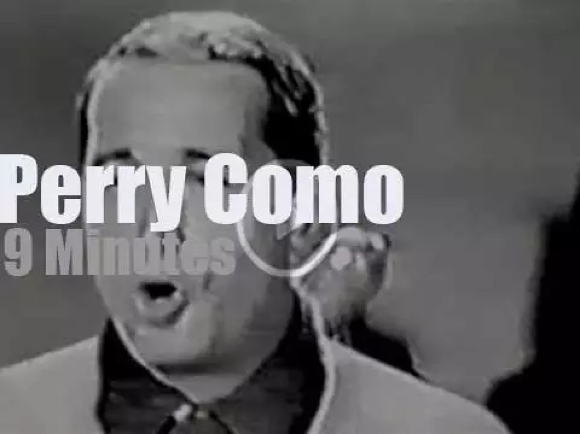 On TV today, Perry Como at 'Kraft Music Hall' (1961)