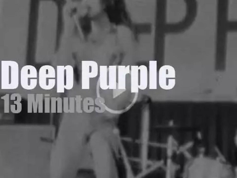 Deep Purple smoke on Tokyo (1972)