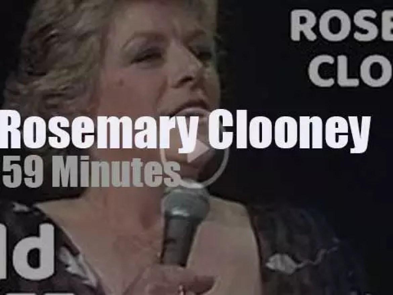 Rosemary Clooney sings at North Sea Jazz (1981)