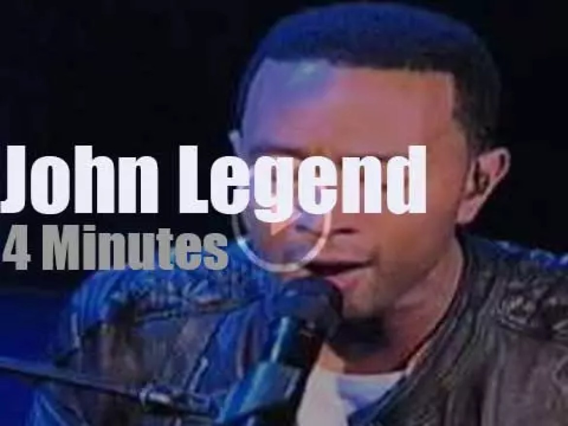 On TV today,  John Legend, is back with David Letterman (2015)