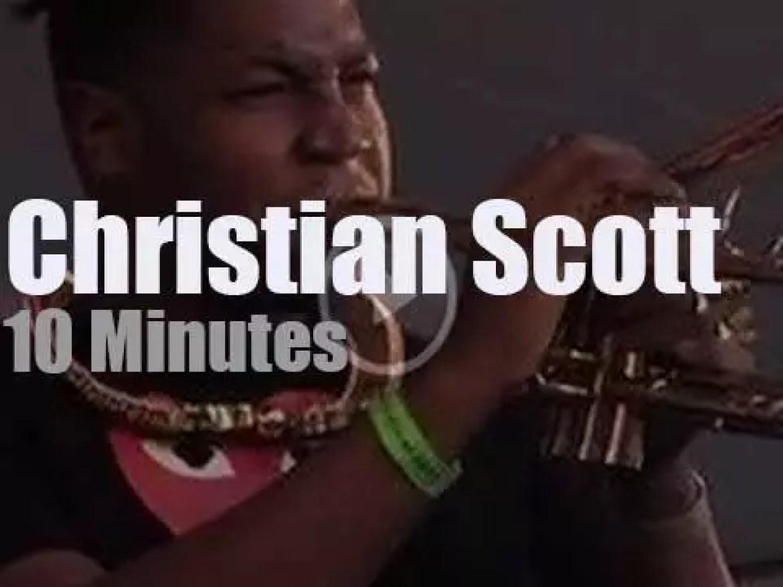 Christian Scott attends BeanTown Jazz Festival (2013)