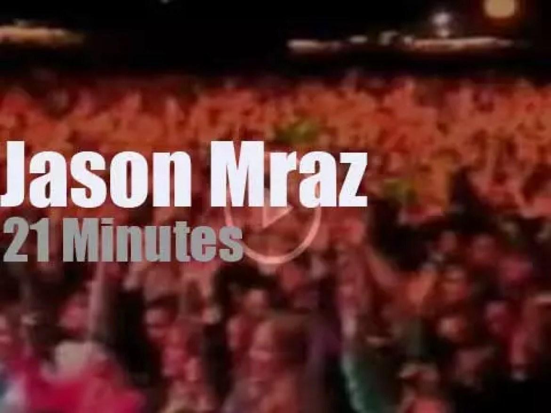 Jason Mraz attends a Boston festival (2010)