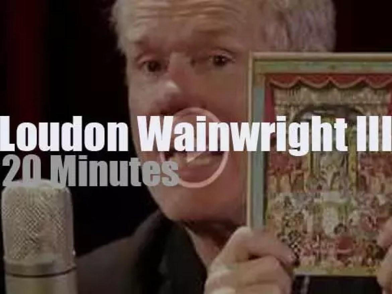 Loudon Wainwright III performs at Paste Studios (2018)