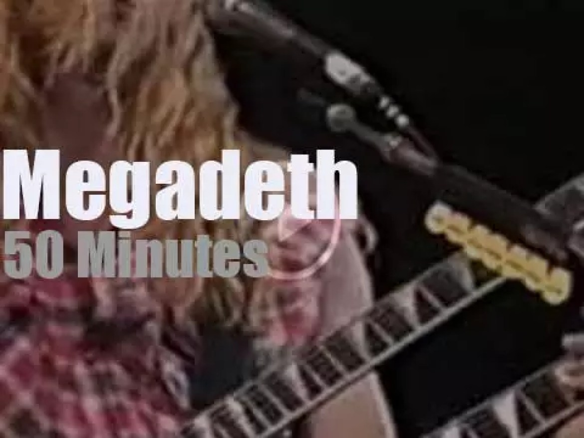 Megadeth are 'Monsters' in Italy (1992)