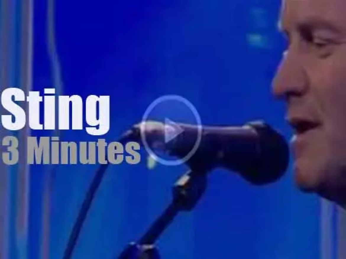 On English TV today, Sting at 'BBC's The One Show' (2013)