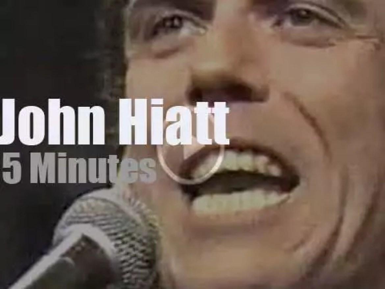 On TV today, John Hiatt with David Letterman (1988)