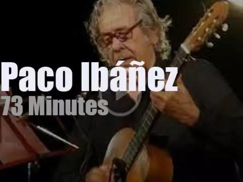 Paco Ibáñez sings (and talks) in Madrid (2017)
