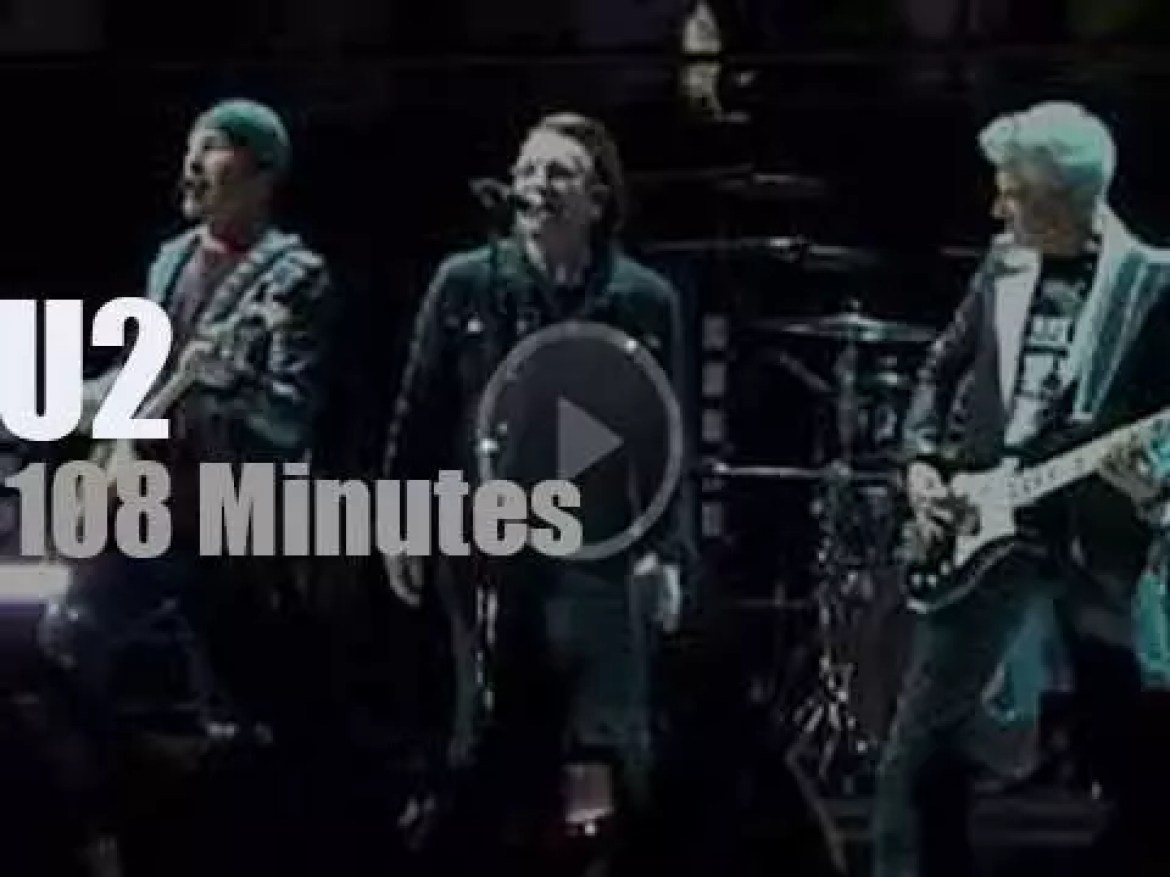 U2 spend two nights in Madrid (2018)