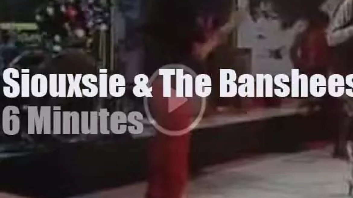 On British TV today, Siouxsie & The Banshees At 'Something Else' (1979)