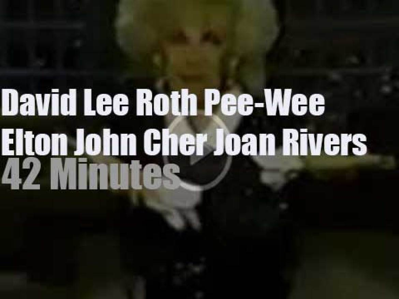 On TV today, Elton John, Cher et al with Joan Rivers (1986)