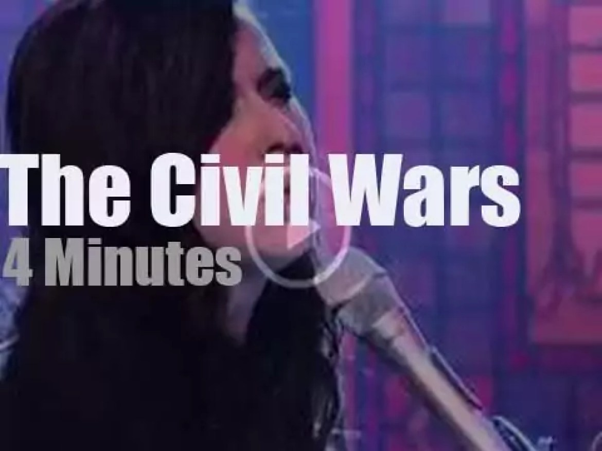 On TV today, The Civil Wars with David Letterman (2011)