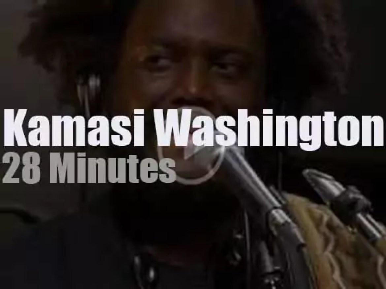 On radio today, Kamasi Washington at KEXP (2016)