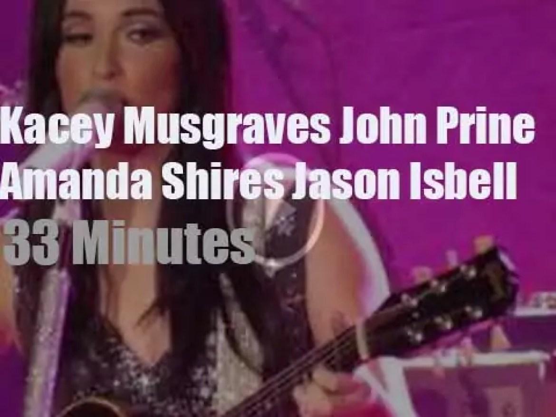 Kacey, Jason, John et al are at Grand Ole Opry (2016)