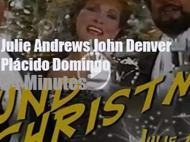 On Greek TV today, Julie, John and Plácido sing Christmas(1987)