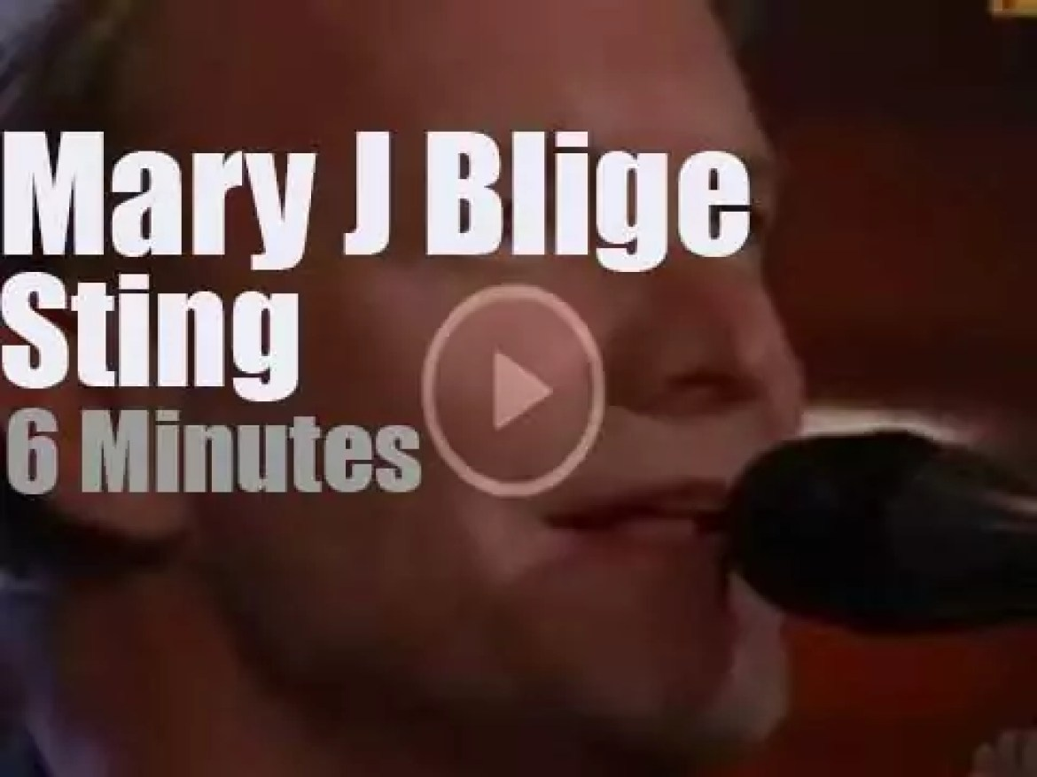 On TV today, Sting and Mary J. Blige with Jay Leno  (2003)