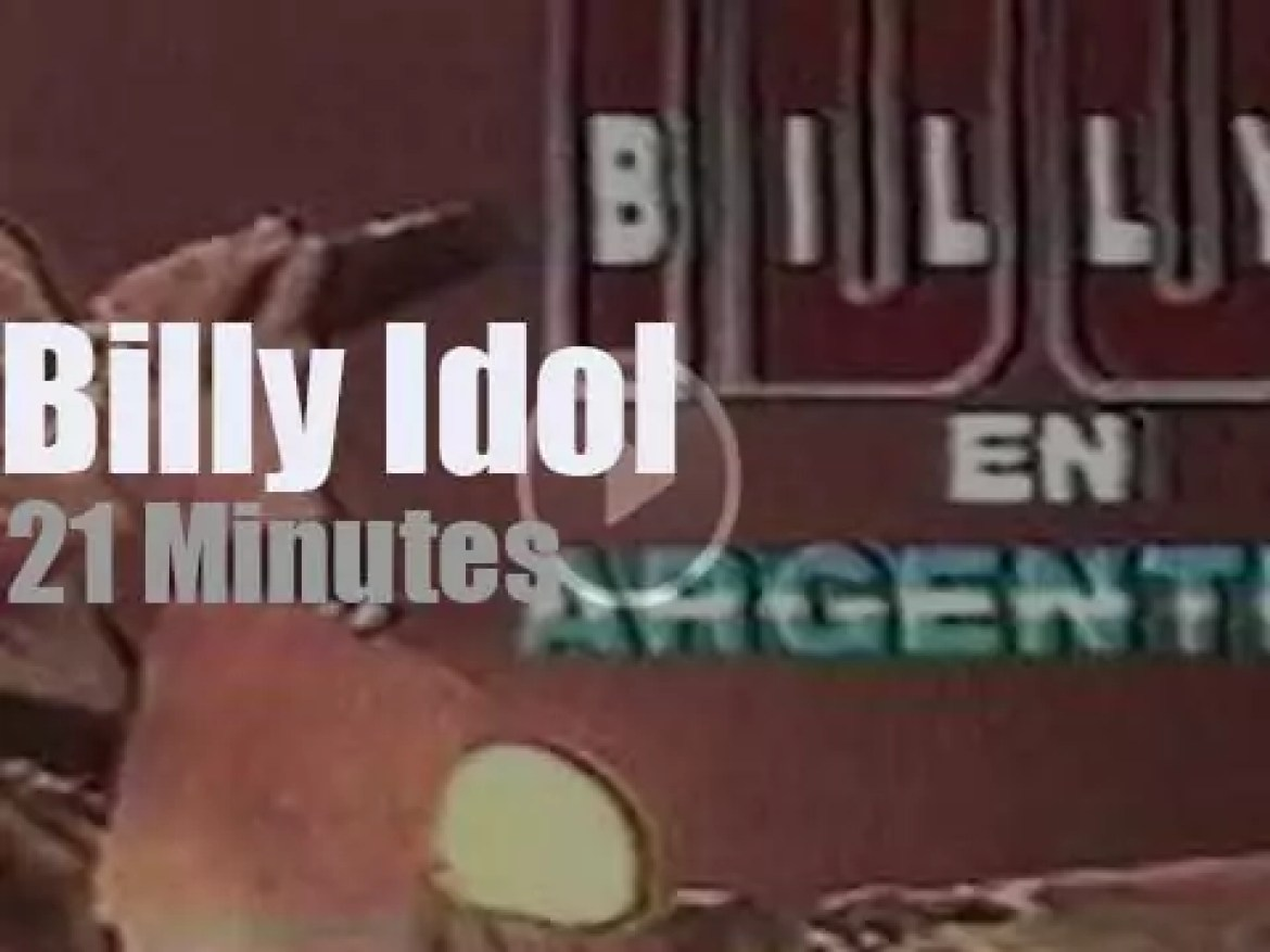 Billy Idol visits Buenos Aires (1991)