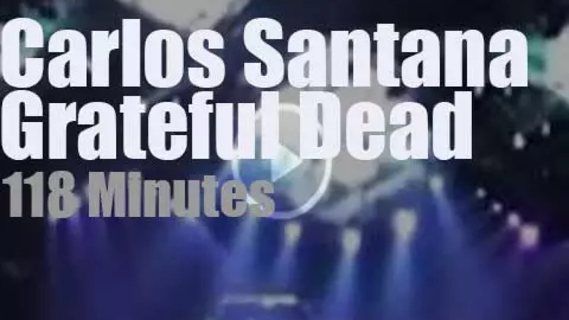 Carlos Santana sits in with Grateful Dead in Oakland (1993)