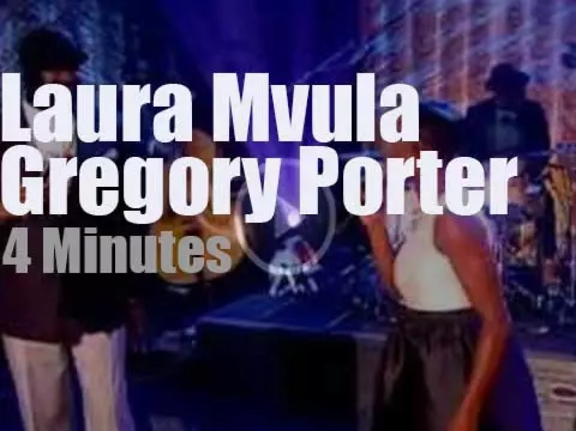 On English TV today,Gregory Porter meets Laura Mvula (2015)