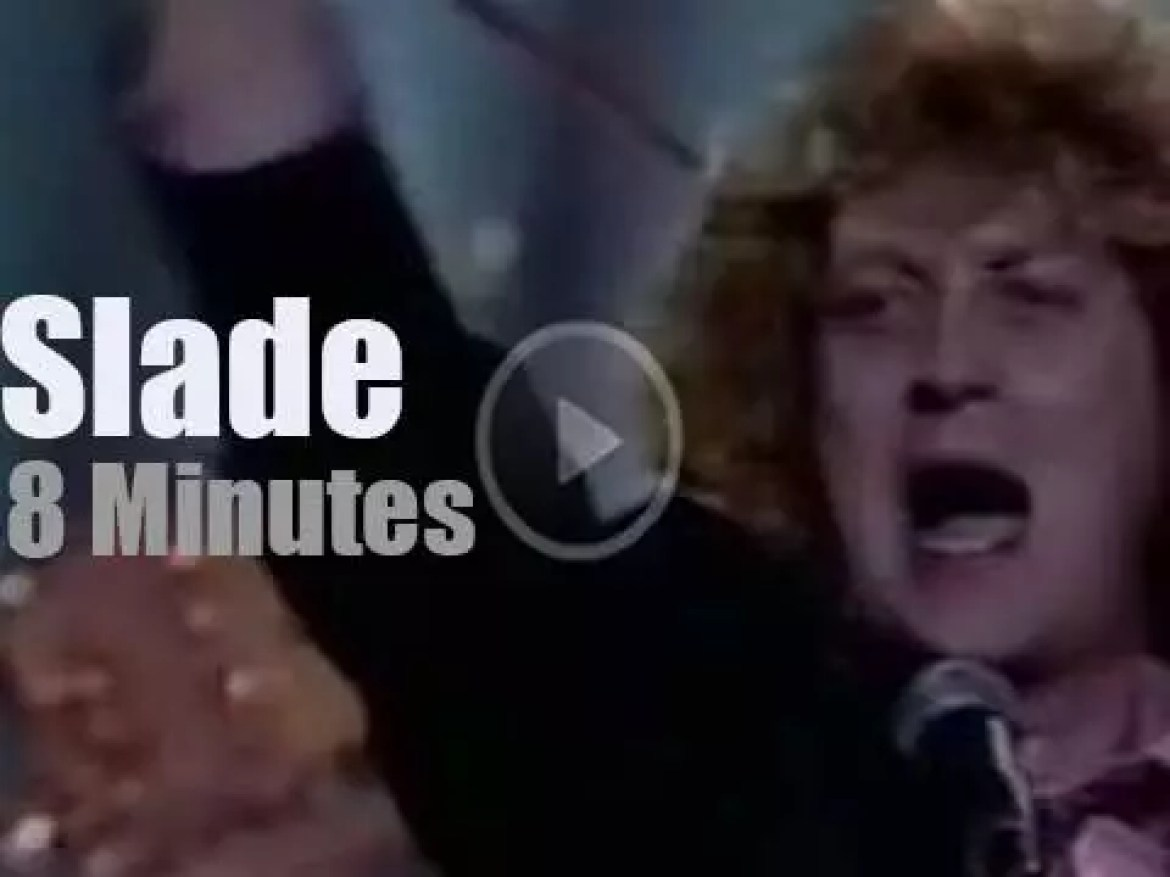 On English TV today, Slade is at 'British Rock and Pop Awards' (1984)