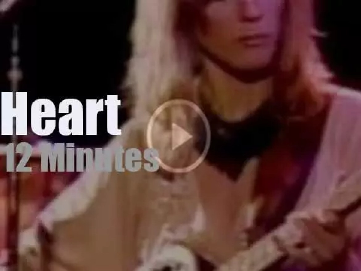On TV today, Heart at 'Midnight Special'  (1977)
