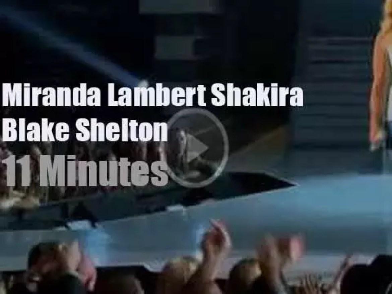 Miranda, Shakira, Blake et al perform at the ACM (2014)