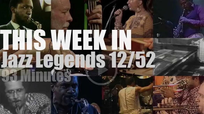 This week In Jazz Legends 12/52