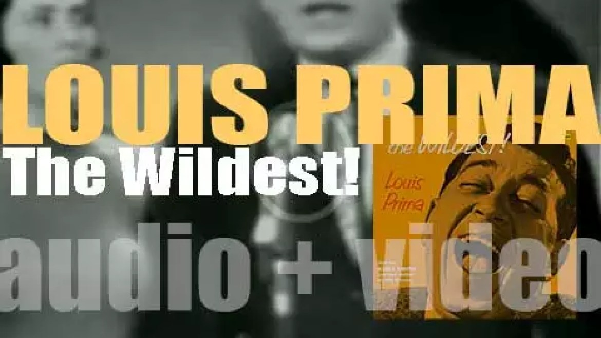 Louis Prima records 'The Wildest!' the album featuring 'Just a Gigolo' at Capitol Studios (1956)