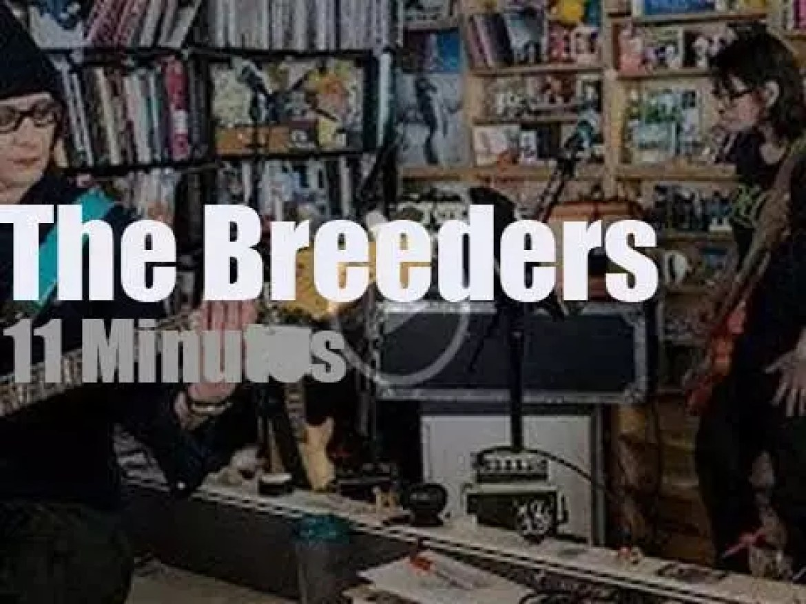 On TV today, The Breeders at 'NPR Music Tiny Desk' (2018)