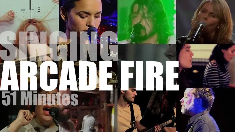 Singing Arcade Fire