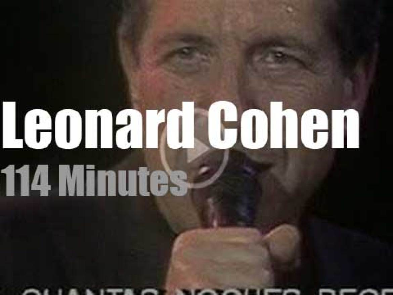 Leonard Cohen sings in San Sebastian (1988)