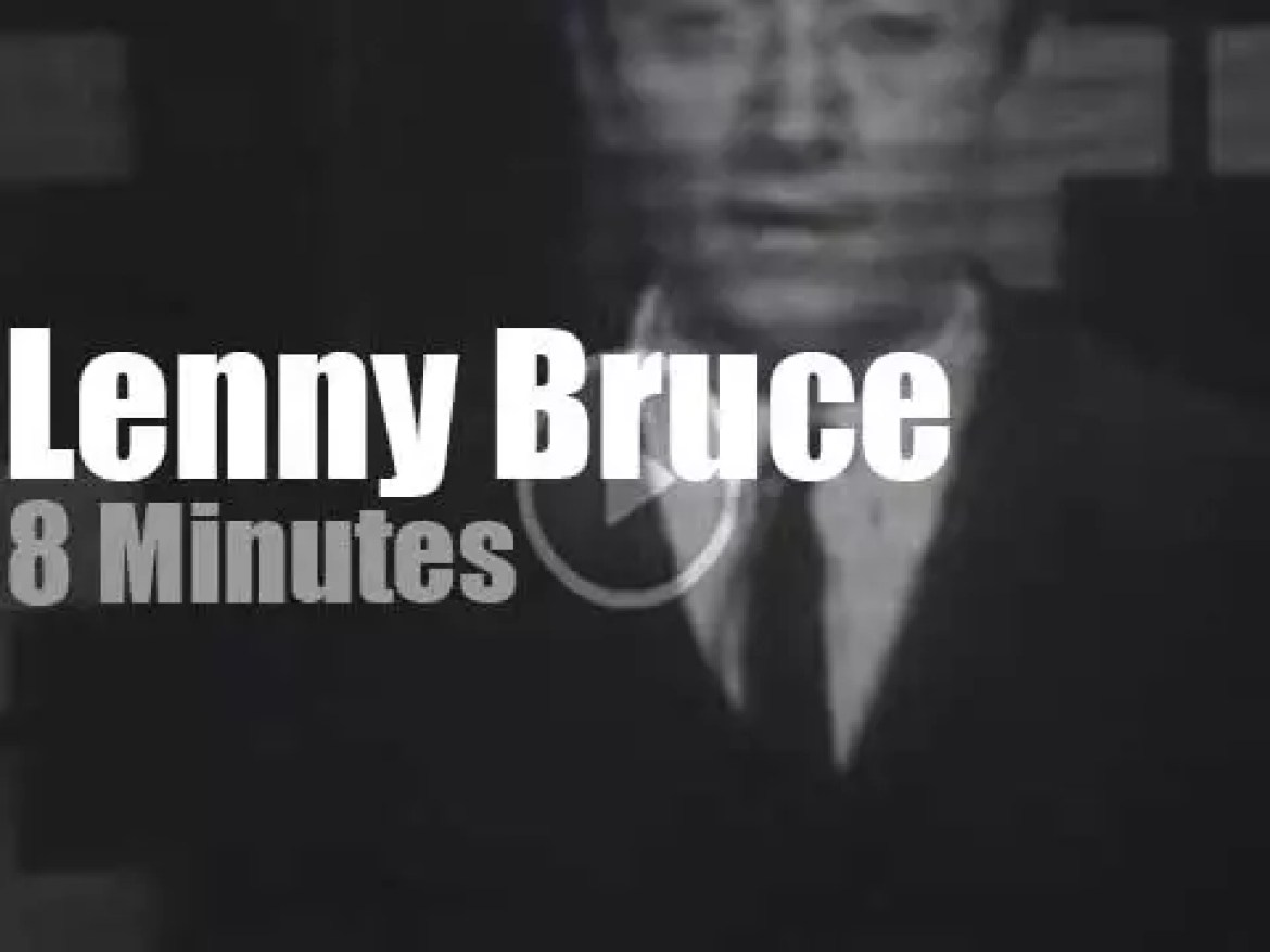 On TV today, Lenny Bruce at 'The Steve Allen Show ' (1959)