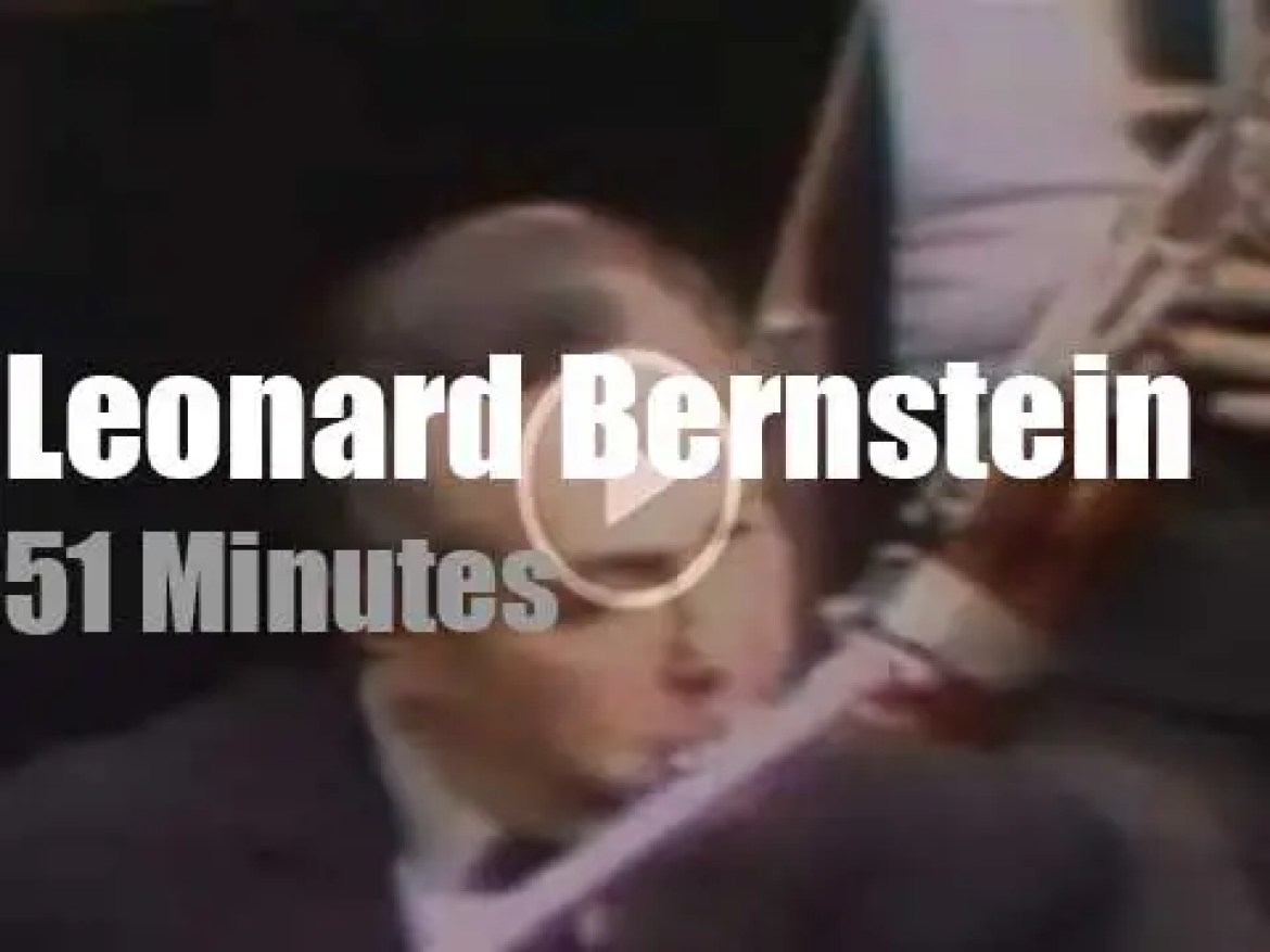 On TV today, Leonard Bernstein & 'Quiz-Concert: How Musical Are You?' (1968)