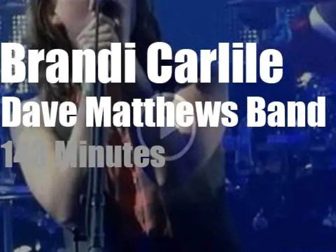 Brandi Carlile guests with the Dave Matthews Band (2013)
