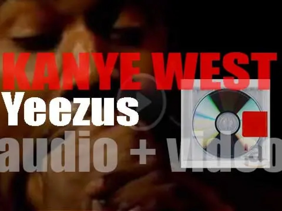 Kanye West release 'Yeezus' his sixth album featuring 'Black Skinhead' and 'Bound 2' (2013)