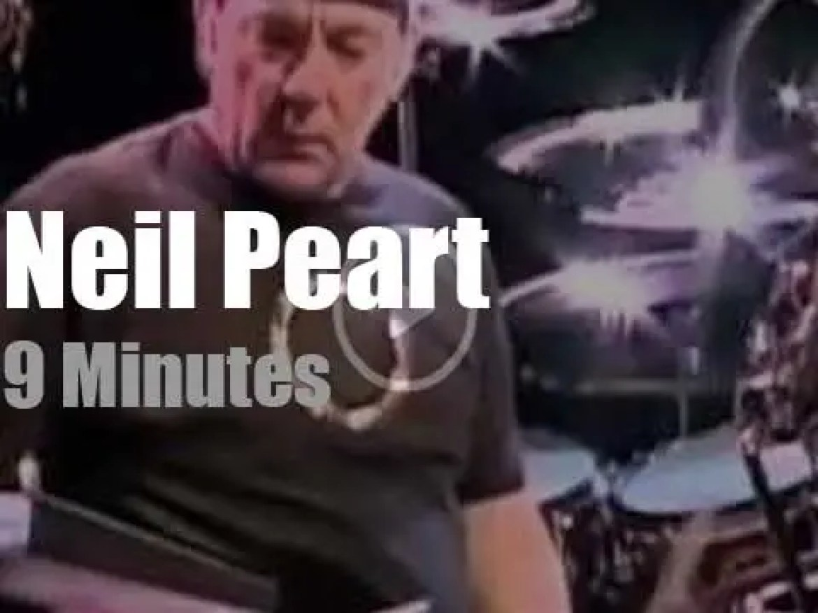 Neil Peart closes the first 'Drum Solo Week' At Letterman (2011)
