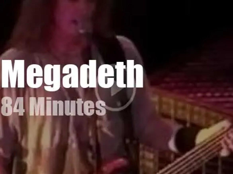 Megadeth hard rock Michigan (1995)