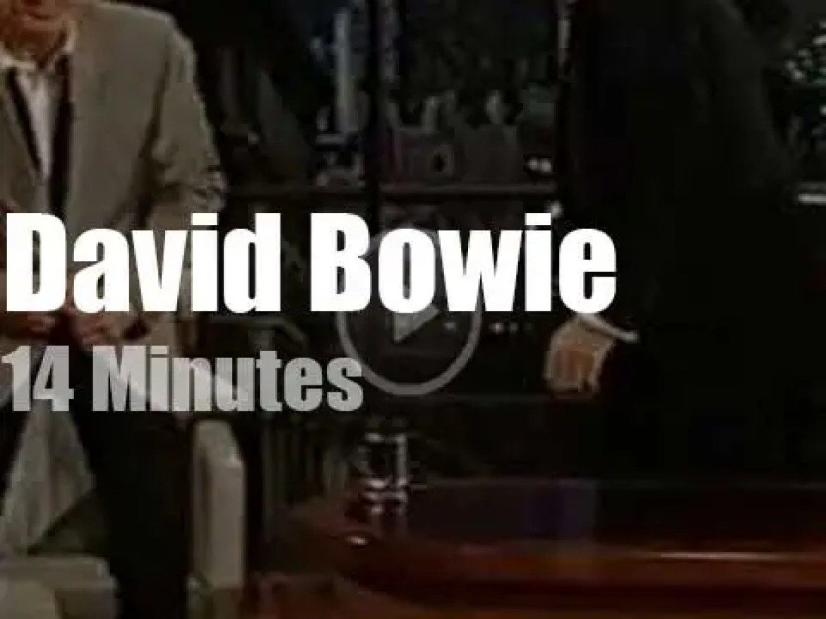 On German TV today, David Bowie with Harald Schmidt (2002)