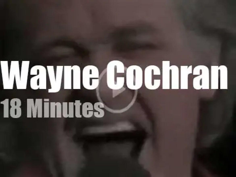 On TV today, Wayne Cochran with David Letterman (1982)