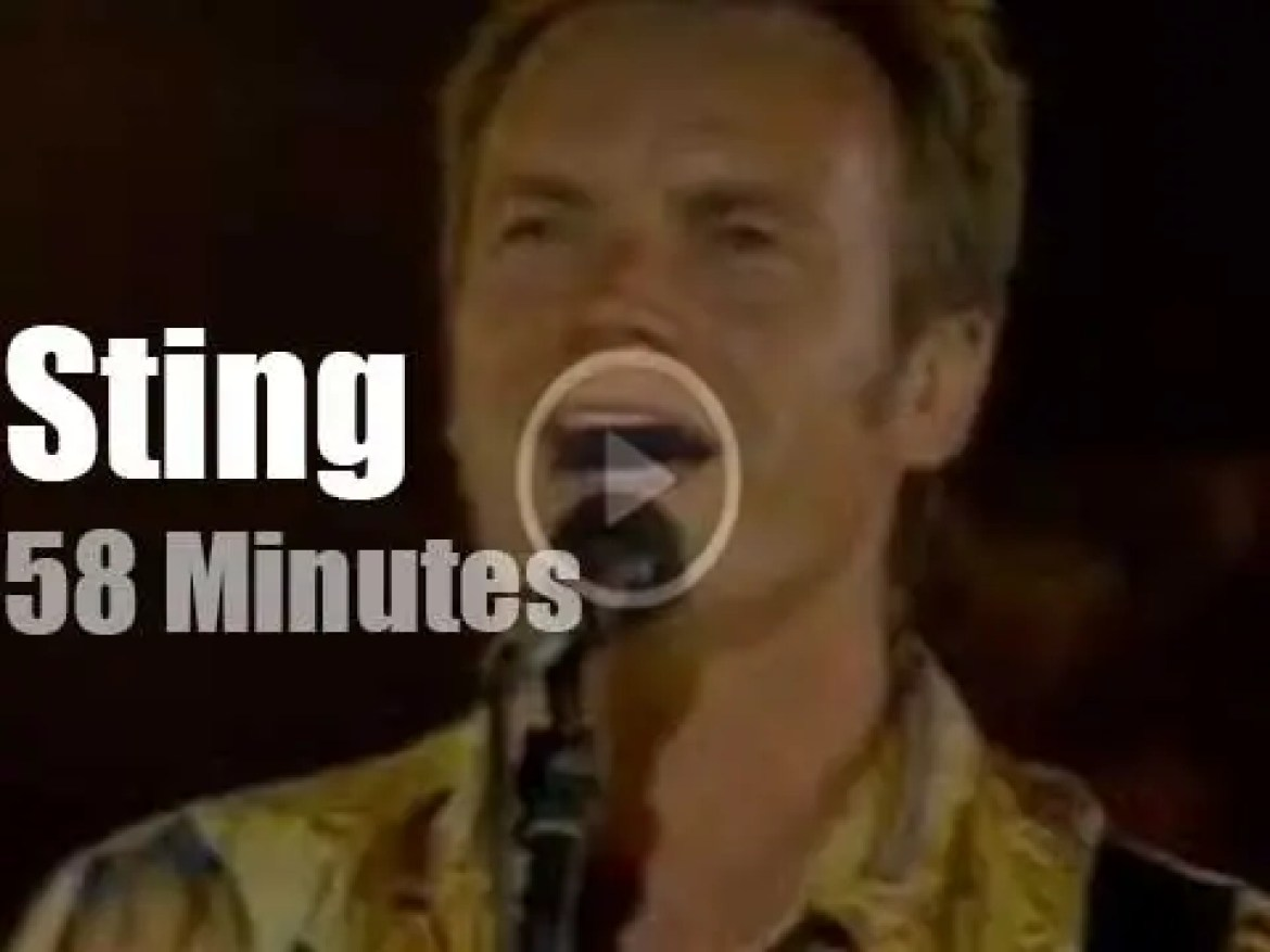 Sting performs in an antique Greek theater in Turkey (1993)