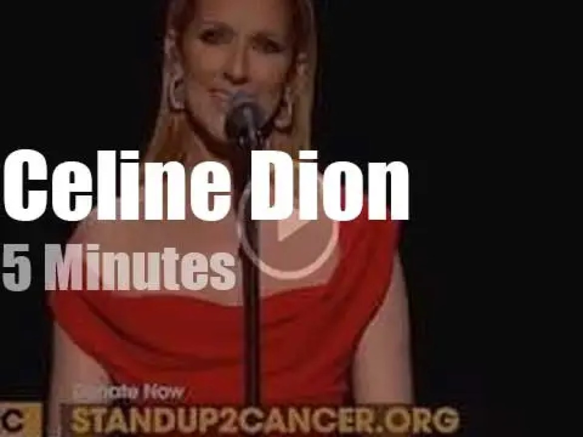 On TV today, Celine Dion at 'Stand Up To Cancer' (2016)