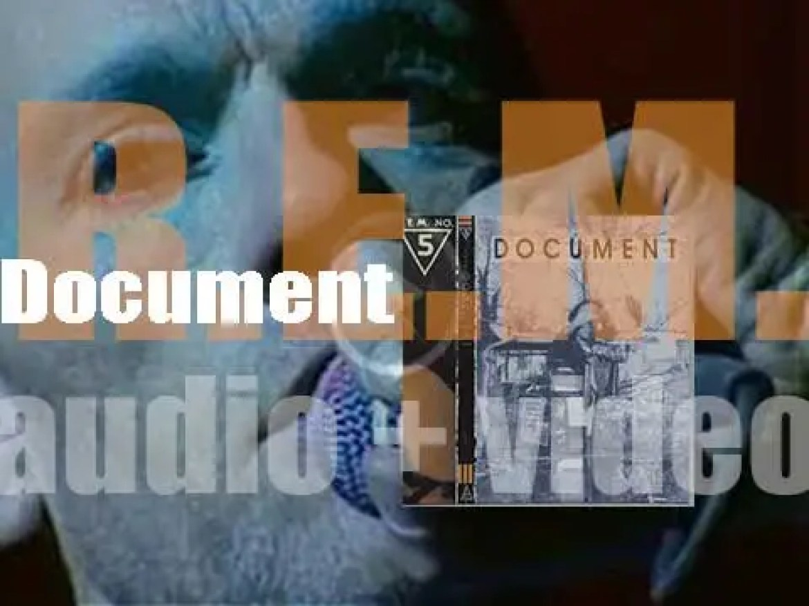 I.R.S. publish R.E.M.' fifth album : 'Document'  featuring 'The One I Love' and 'It's the End of the World as We Know It' (1987)