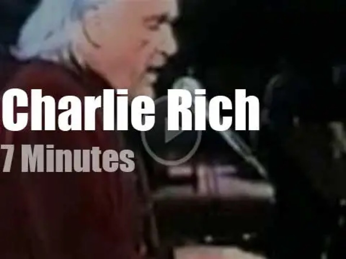 On TV today, Charlie Rich at 'Nashville Now' (1992)