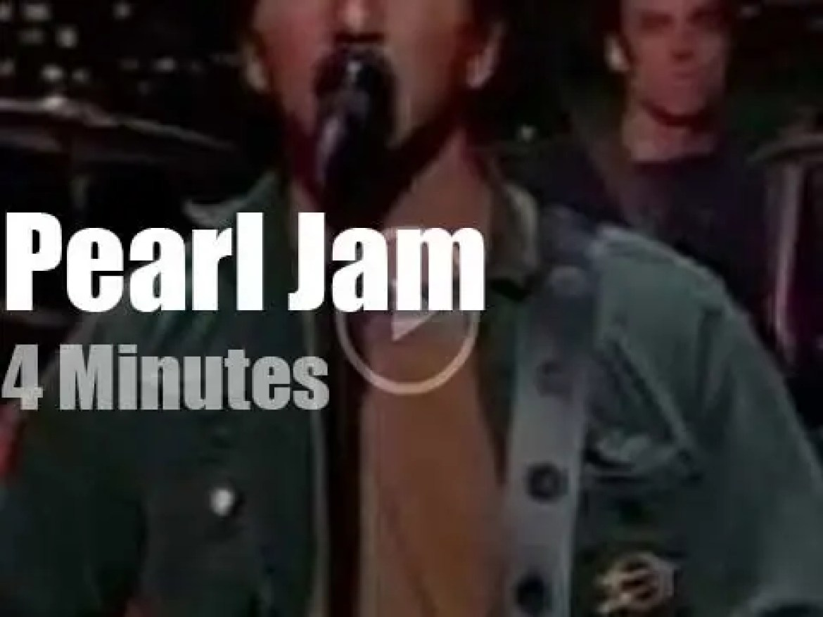 On TV today, Pearl Jam with David Letterman (2002)