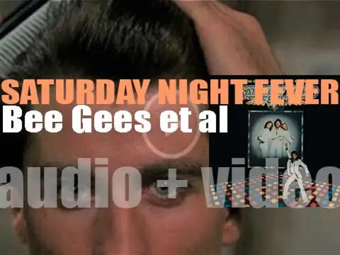 RSO publish 'Saturday Night Fever' the soundtrack album from the eponymous film (1977)