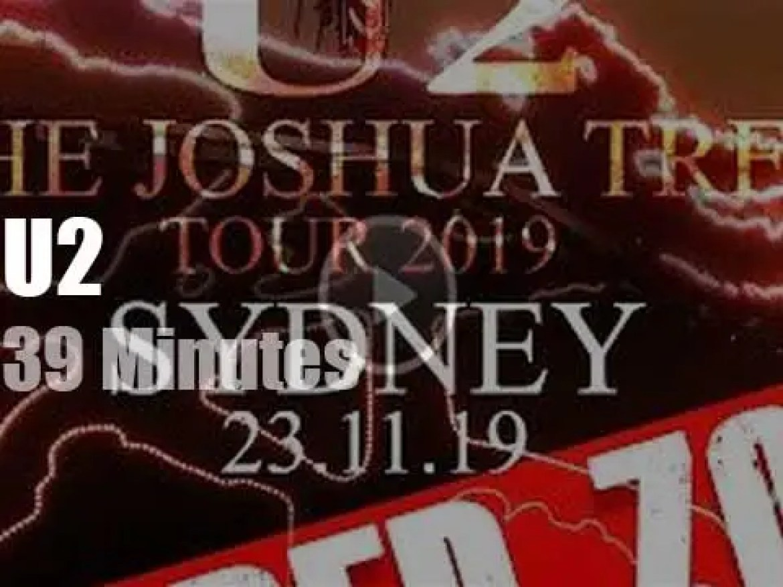 U2 plant the 'Joshua Tree' in Sydney (2019)