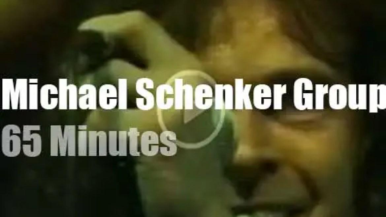 German TV tapes Michael Schenker Group in Hamburg (1981)