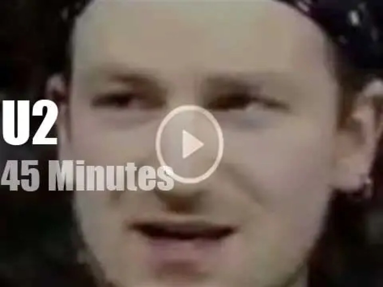 On Irish TV today, U2 at 'TV Gaga' (1986)